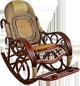 Кресло-качалка из натурального ротанга (Арт. 001.003 NM)